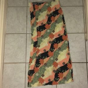 Clio Skirts - Floral Print Maxi Skirt
